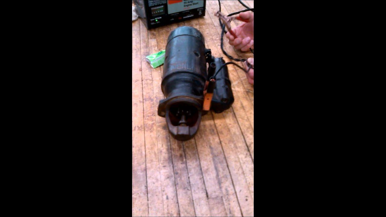 How starter works on diesel engine youtube for How a starter motor works