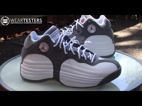 b7d419be03d8cc Jordan Team 1 White  Gym Red - Cool Grey - YouTube