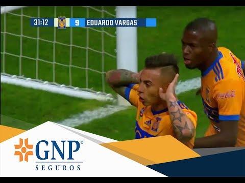 Gol de Eduardo Vargas   Monterrey 1 - 1 Tigres   Final Apertura 17   Presentado por GNP Seguros