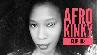 Afro Kinky Curly Clip In Tutorial - My Natural Hair Extensions