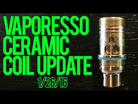 Vaporesso Ceramic Coil Update 1-26-16