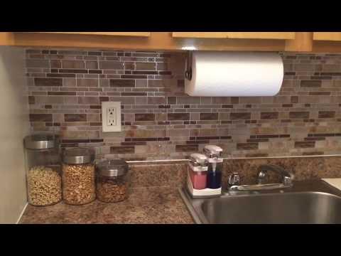 Crystiles DIY Peel & Stick Backsplash for Kitchen and Bathroom