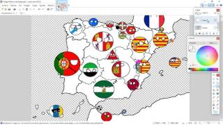 Drawing Map of Spain Part-3 Other countries and dialogues