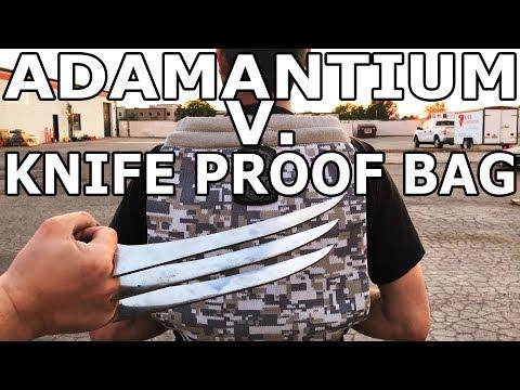 Adamantium and 60,000 PSI Waterjet vs Knife Proof Bag - LocTote #BeatTheBag #Giveaway