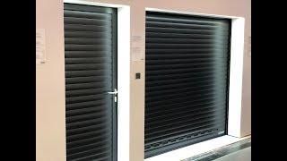 Выставка  BAU 2019.  Ролетные гаражные  ворота с боковой дверью