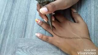 Learn how to draw leaves with henna