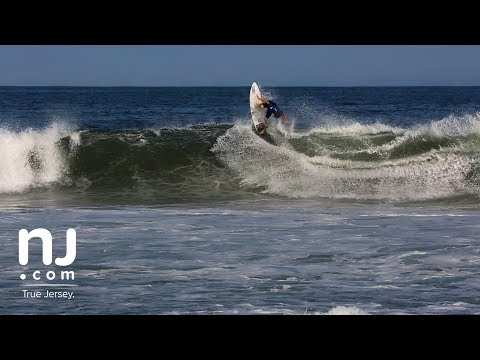 Jersey surfers riding gnarly waves spawned by offshore hurricanes