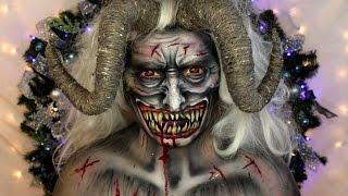 Krampus Christmas Devil Makeup Tutorial | Jordan Hanz