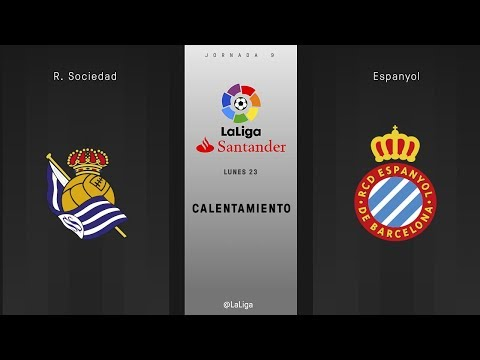 Calentamiento R. Sociedad vs Espanyol