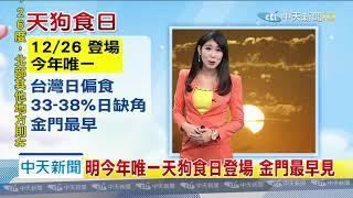 20191225【氣象】中天新聞 今白天轉乾 全台陽光露臉!「冬颱週五起影響」