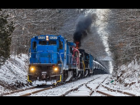 RARE GE C39-8's On the Pennsylvania Northeastern Railroad!