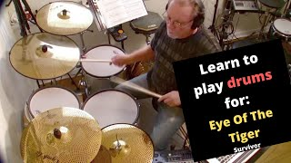 Eye Of The Tiger - Survivor (Drum Cover) drumless track used
