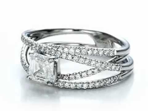 custom pave diamond multi band engagement ring youtube