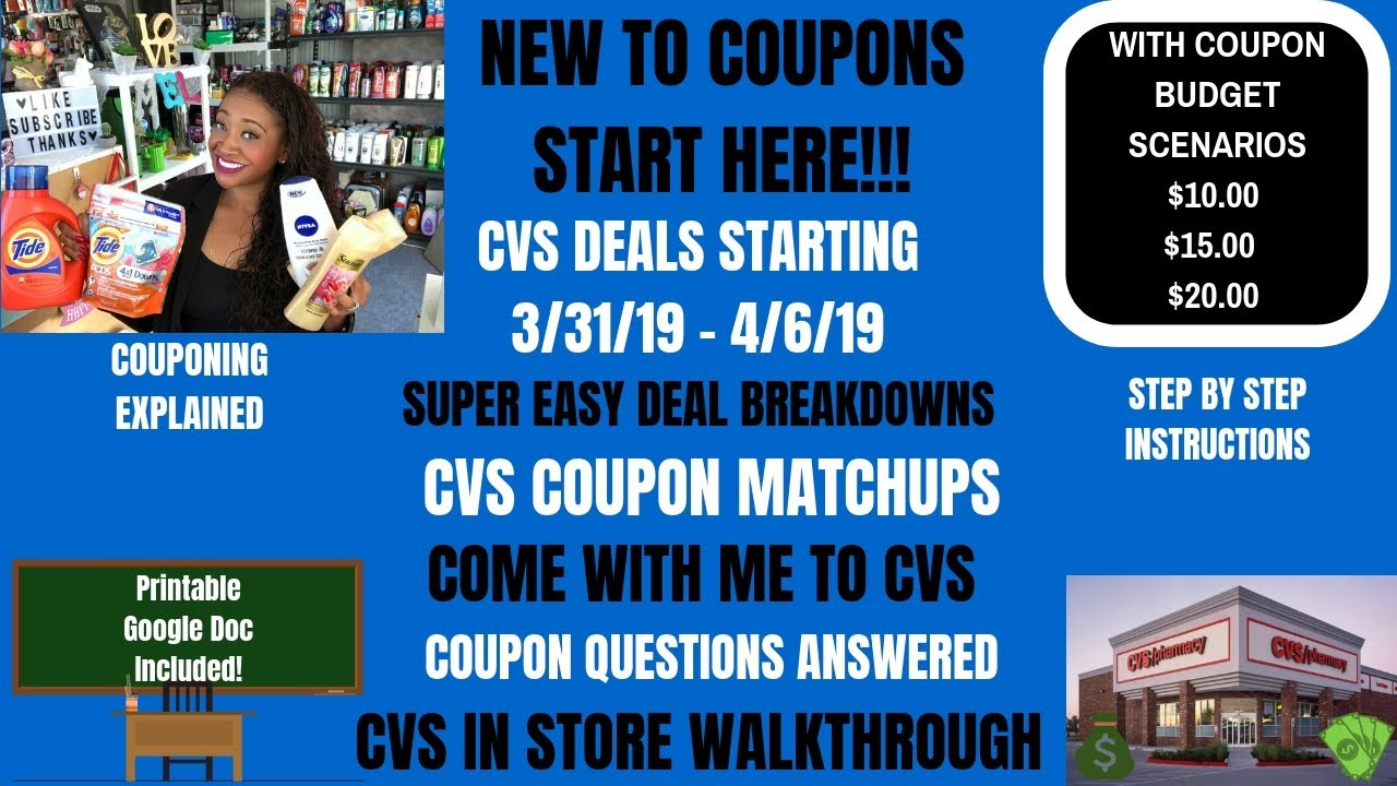 Super EASY NEW Couponer Deals~CVS Coupon Matchups Deals Starting 3/31/19~In  Store Walkthrough FREE❤️