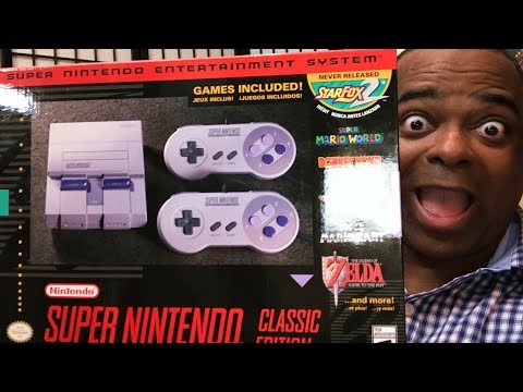 NINTENDO SENT ME the Super NES Classic Edition!