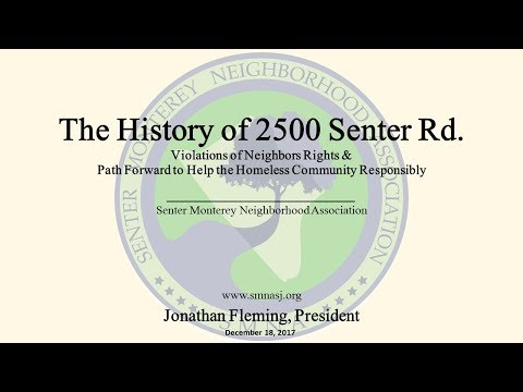 20171218 Fleming - History of 2500 Senter Rd and Path Forwar