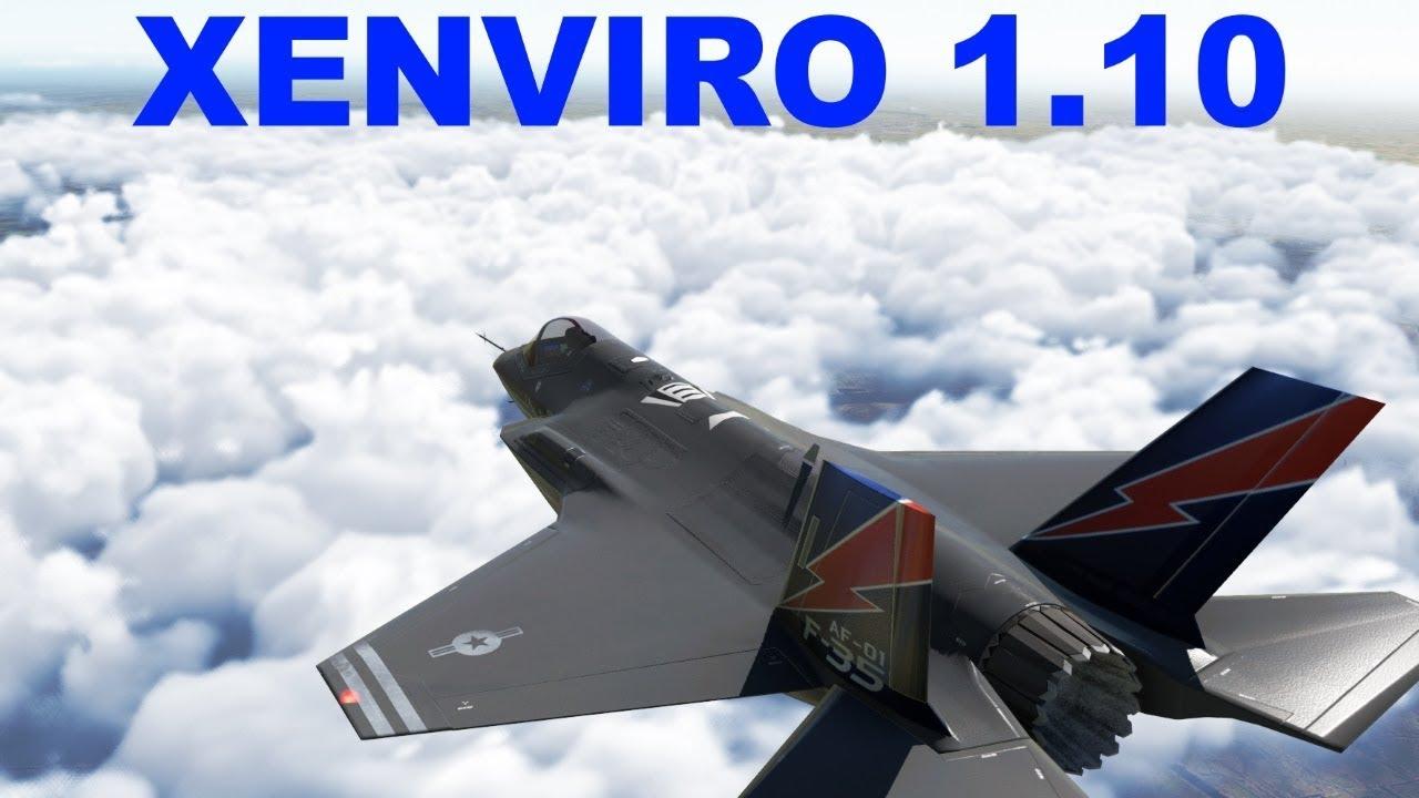 Xenviro 1.10 review (HD clouds) - X Plane 11 - YouTube