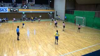 20111103福大ハンド女子、全日本、武庫川女子大学.wmv
