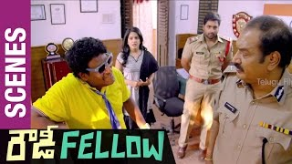 Rowdy Fellow Telugu Movie Scenes | Satya Hilari...