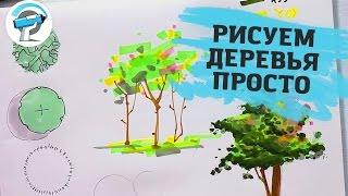 УРОК РИСОВАНИЯ ДЕРЕВЬЕВ МАРКЕРАМИ | Учимся рисовать маркерами с Оскаром Котиковым