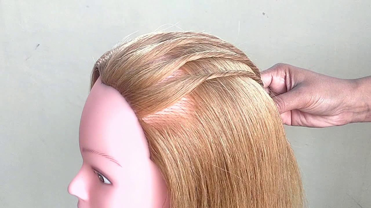 Simple Twisted Hairstyle For Party Function Easy Birthday Party Hairstyles Cute Hairstyle Youtube