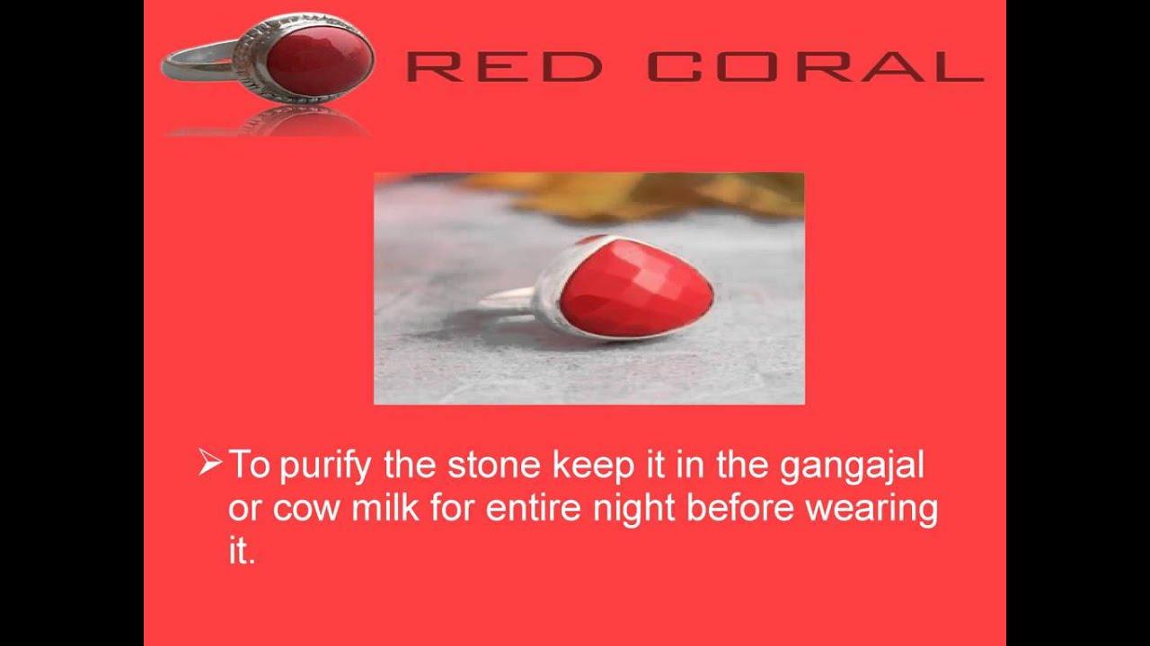 Method Of Wearing Red Coral Gemstone - YouTube