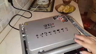 электрогриль Simbo. овощи гриль и курочка, правильное питание