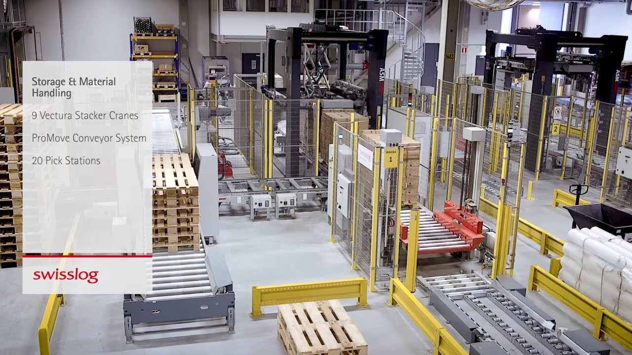 Swisslog Vectura: Pallet stacker crane for your automated