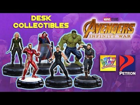 2018 Petron Avengers Infinity War Desk Collectibles Complete Set of 6 Figures