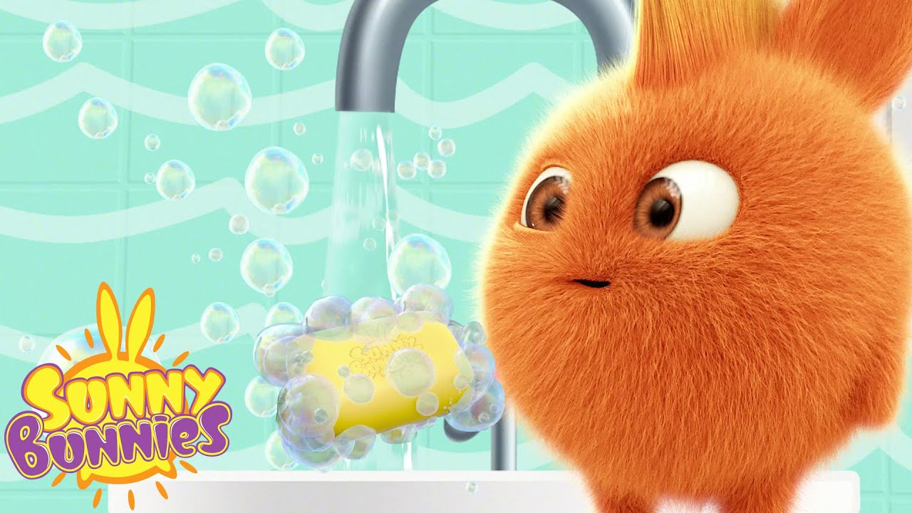 Wash your Hands with Sunny Bunnies | Funny Cartoons for Kids | HooplaKidz Toons