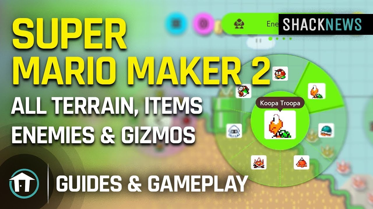 All Terrain, Items, Enemies, and Gizmos in Super Mario Maker