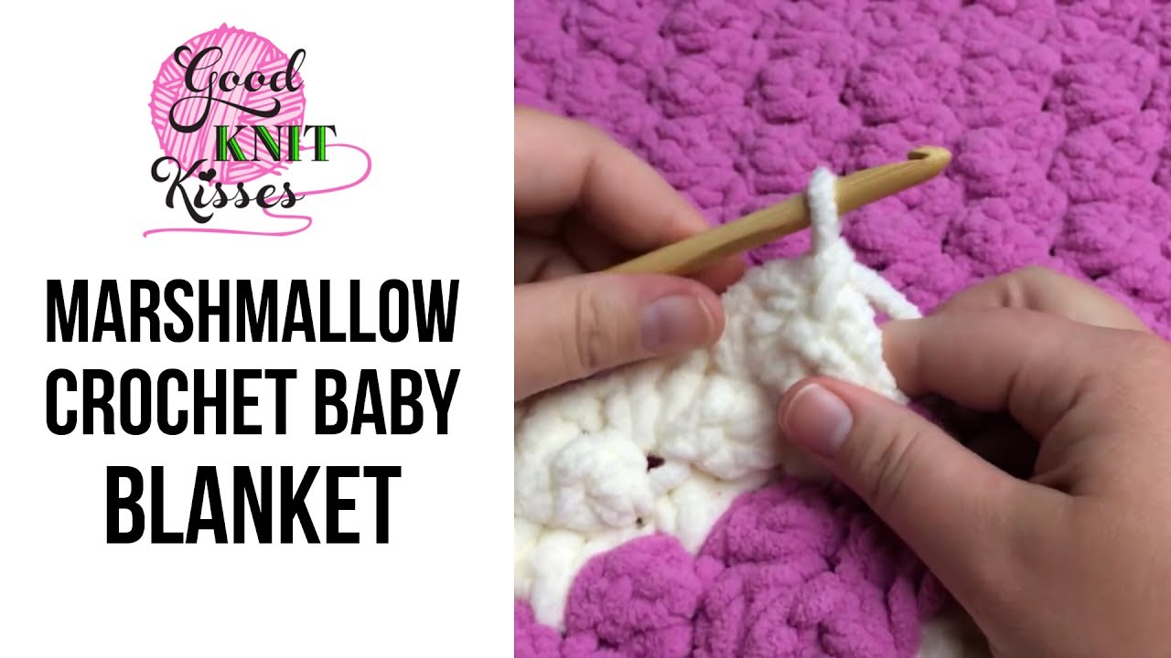 Marshmallow Crochet Baby Blanket (with Closed Captions CC) - YouTube