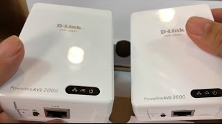 D-Link Powerline AV2 2000 Adapter Gigabit Extender 2000Mbps Starter Kit (DHP-701AV)