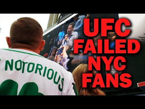 UFC Failed New York City Fans at McGregor vs. Khabib Press Conference