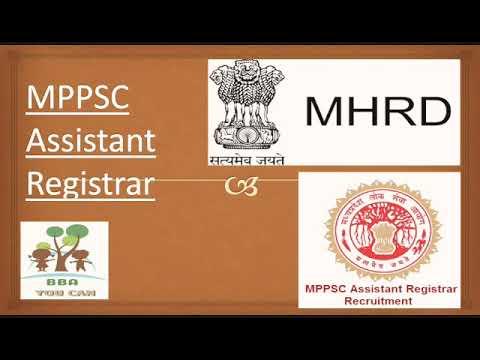 MPPSC ASSISTANT REGISTRAR.Paper 2. 3(c) MHRD
