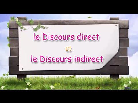 le discours direct et le discours indirect