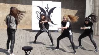 150510 THE ARK _ EXO cover dance - 중독(Overdose)+으르렁(Growl)/ 漢江バスキング