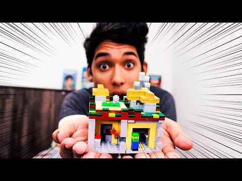 MUNDO MINECRAFT NA VIDA REAL!! (Lego Minecraft)