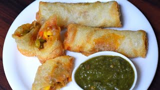 Veg Spring rolls with Homemade sheets | Vegetables spring rolls | Homemade spring roll sheet | Snack