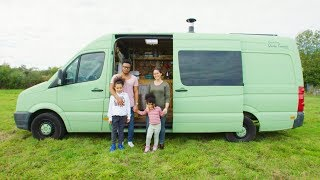 FAMILY of FOUR converts OFF-GRID VAN to travel the WORLD