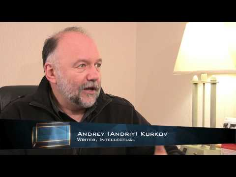 Kontakt TV: «Розмови про культуру». Marko R. Stech and Tania Stech converse with Andrey Kurkov
