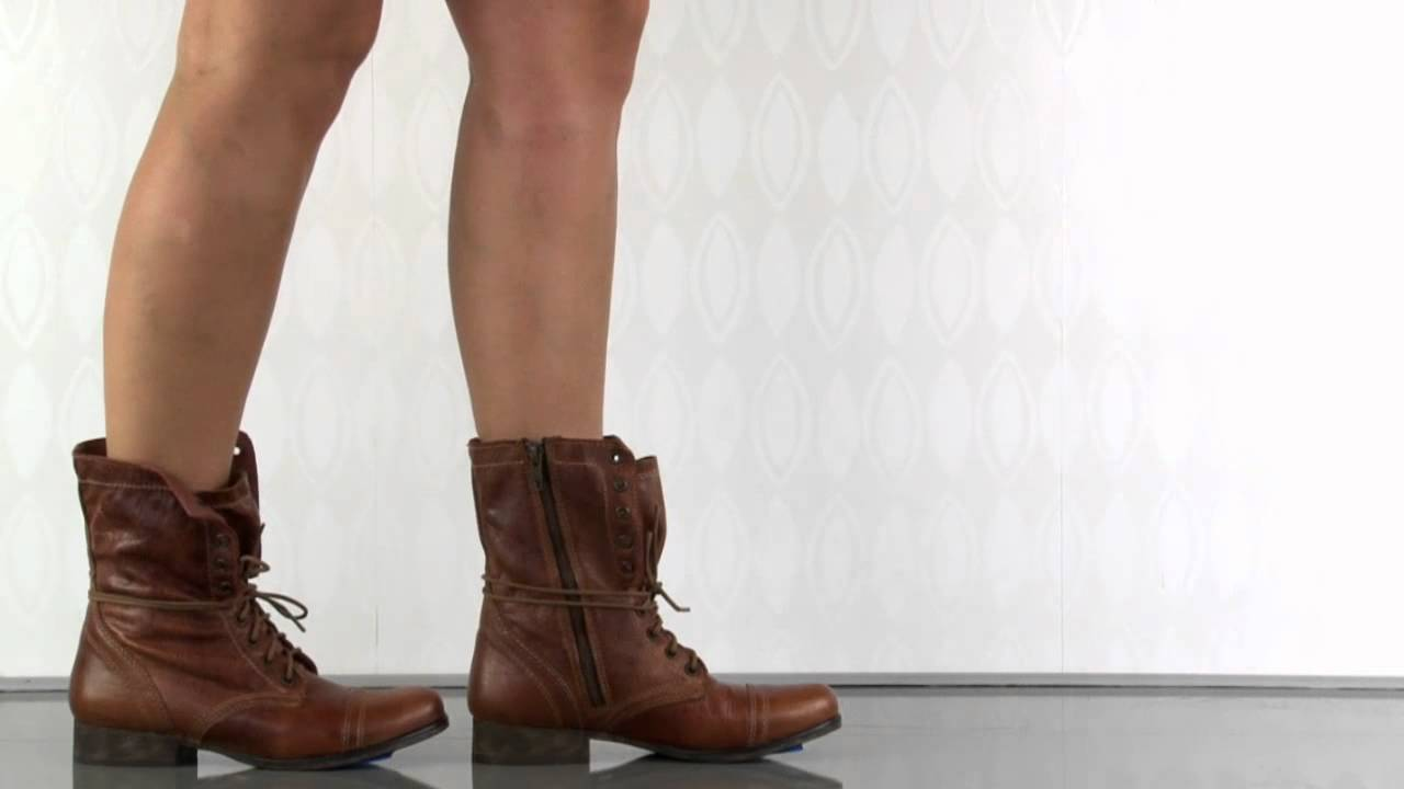 hot product detailing classic shoes Steve Madden Troopa in Tan Leather - YouTube
