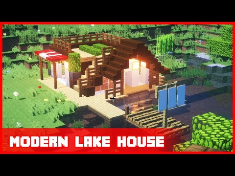 Minecraft Modern Lake House Easy Build