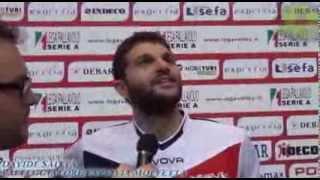 10-11-2013: Davide Saitta nel post Exprivia Molfetta - Bre Lannutti Cuneo 3-0