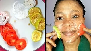 HOW QUICK DO THEY WHITEN THE SKIN?? THE DIFFERENCE BETWEEN LEMON, TOMATOES & BAKING SODA SCRUB
