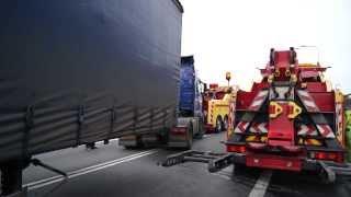 Pomoc Drogowa SZKWAREK Autostrada A2 Świecko - Holowanie ciągnika siodłowego, naczepy