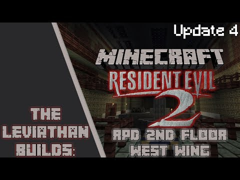Minecraft Build: Resident Evil 2: RPD Station (2nd Floor West Wing) [Update #4] | The Leviathan