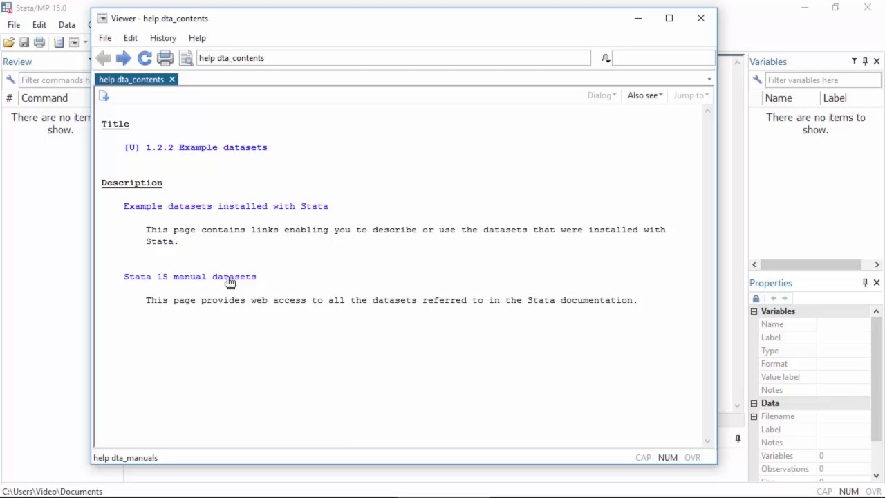 Preview: Example datasets included with Stata 15