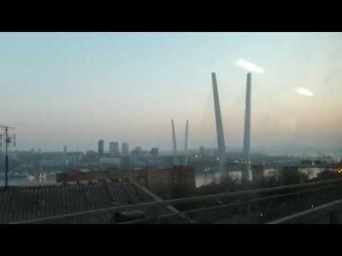 Владивосток.  Маршрут автобуса №1  Седанка - Мыс Анна