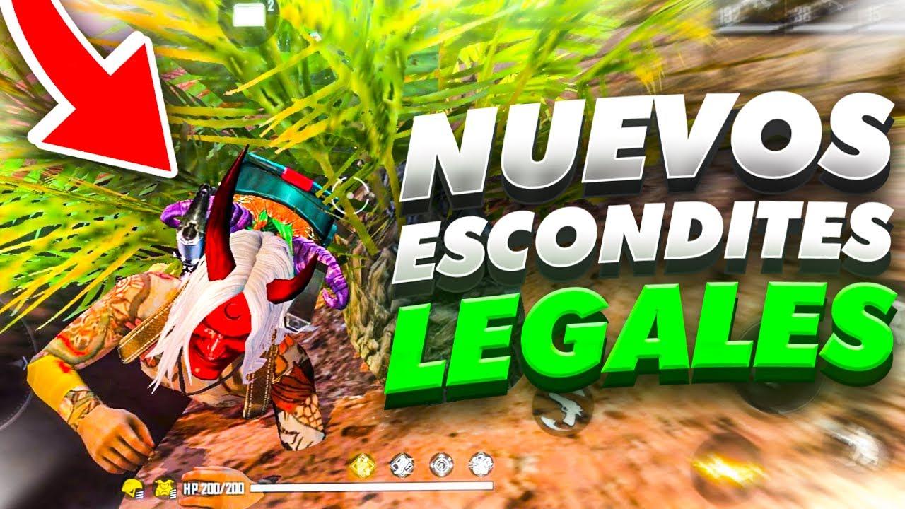 """3 *NUEVOS* LUGARES """"LEGALES"""" para CAMPEAR en FREE FIRE en NUEVA ACTUALIZACION!!!"""